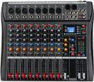 Depusheng 8 Channel Bluetooth USB Audio Mixer Sound Mixing Consoles