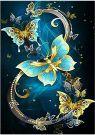 5D DIY Diamond Painting Set Butterfly Blue (30x40cm)