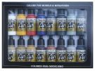 Vallejo Model Air Basic Colors Acrylic Paint Set for Air Brush - Assorted Colours - 71178 (Pack of 16X17ml)