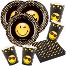 Set party smiley emoticons for 16 People (52 Piece)