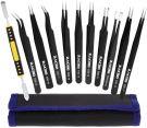 Zacro ESD anti-static stainless steel tweezers (10 pieces)