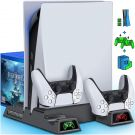 PS5 Vertical Stand Cooling Fan and Dual Controller Chargers for PS5/PS5 Digital Edition