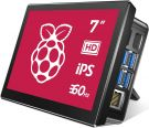 Raspberry Pi 7 Inch Touch Screen 1024x600 Type-C IPS 178° Ultra Wide Angle Cooling Fan 10 Finger Capacitive Touch