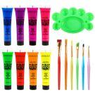 Etereauty Fluorescent Make-Up UV Body Paint Black Light (8 x 28 ml)