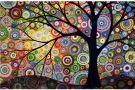 5D DIY Full Drill Diamond Painting Kit Colourful Tree (35 x 45 cm)
