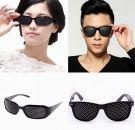 Hole Plastic Glasses Black for Eye Training for Relaxation (Set of 2)