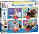 Ravensburger The Secret Life of Pets 2, 4 in a Box (12, 16, 20, 24pc) Puzzles