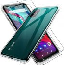 Protective Case for Doogee X96 Pro Silicone Mobile Phone Case and 2 Pieces Tempered Glass