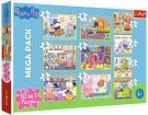 Trefl Puzzle Peppa Pig with Friends, 20 to 48 Pieces, 10 Sets Multicolour (90358)