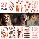 Sticker body fake scars tattoos 27pcs