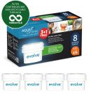 Aqua Optima Evolve 8 month pack, 4 x 60 day water filters - Fit BRITA, Maxtra, (not Maxtra+) - EVD415
