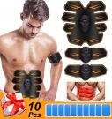 EMS Training Device Abdominal Muscle Stimulator with 10 pads