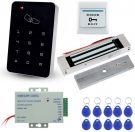 T22 ull Complete Kit for Door Access Control System +180KG Magnetic Lock+Power Supply+Exit Button+10pcs ID Key Cards