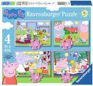 Ravensburger Peppa Pig Puzzle, 4 in 1 Box