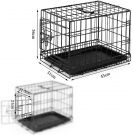 Folding metal travel box for pets and puppy (45x31x36 cm)