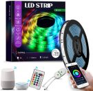 SMD 5050 RGB LED Strip Compatible with Alexa Echo, Google Home - 150 LEDs (5m)