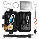 Trekoo Survival Kit Outdoor Emergency Self Help Emergency (15 in 1)