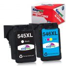 Kingway Remanufactured printer cartridge replacement for Canon PG-545 CL-546 XL (1 black, 1 color)