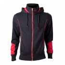 Assassin's Creed Rogue Hooded Zip Black-red size L