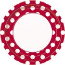 Red Polka Dot Party Plates, Pack of 8, 23cm (37495)