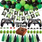 Video Game Party Decoration Set With Happy Birthday Banner