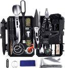 YEVHEV Outdoor Survival Kit 60 in 1 Pocket Lamp for Outdoor Activities