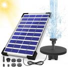 AISITIN Solar Fountain Pond Pump with 6 Nozzles and Built-in Battery (10v/5.5W)