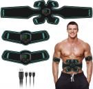 EMS Muscle Stimulator Abs Muscle Trainer  with 12 Tablets Gel /USB Electric