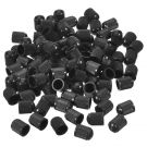 120 Pack Car Tire Valve Stems Dust Caps for Car, Motorbike, Trucks, Bike, Bicycle, Black