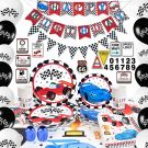 Racing Car Birthday Party Set   (16 people 140 pieces )