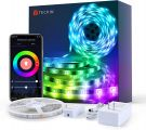 TECKIN RGB Smart WiFi LED Strip 5m Compatible with Alexa, Google Assistant and Remote Control (Energy Class A+++)