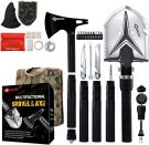 YEVHEV Folding Shovel and Axe with Survival Kit 5 Length Combinations for Survival