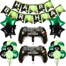 Video Game Birthday Party Decoration set 25 Pieces (Black/Green)