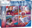 Ravensburger 3019 Disney Frozen 2, 4 in a Box (12, 16, 20, 24pc)  Puzzles,