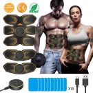 ANLAN EMS Muscle Stimulator Electronic Toning Belts Workout USB Rechargeable with 10 Replacement Gel Pads (Unisex)