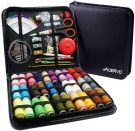 AUERVO 116 Premium Sewing Supplies with PU Case, 30 XL Thread Spools,Mini Sewing Kit