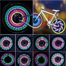 Bicycle Wheels Light Up Waterproof Spoke Lights with 32 LED and 32 PC Change Patterns