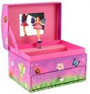 Fairies Music Box with Drawer for Jewellery (Pink)