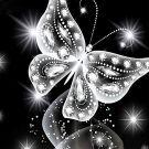 5D Diamond Painting Full Kit - Crystal Butterfly (30x30cm)