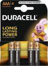 Duracell Alkaline batteries AAA LR03/MN2400 1.5V (4pcs)