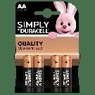 Duracell Alkaline batteries AA LR6/MN1500 (4pcs)
