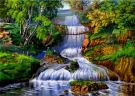 5D Diamond Painting Full Kit - Waterfall (30x40cm)