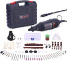 GOXAWEE Rotary Tool Kit, 130W Multi-Functional Mini Grinder Set with 140 Accessories (Keyless Chuck & Flex Shaft)