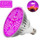 Led Grow Light Bulb Full Spectrum Plant Light 100W 160 Degree E27