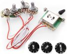 Wiring Harness Prewired Kit for Fender ST SQ Guitars (Rotating Audio Rotating Cap)