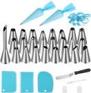 Cake Piping Nozzles Bakeware Stainless Steel Icing Nozzles Set (55 Pieces)