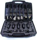 Nordell Drum Microphones Set (7 Pcs Mic Kit, 5 Rim Clips, 7 XLR Cables + Case)