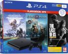 Sony PlayStation 4 Slim Black 1TB & Horizon Zero Dawn & God of War & The Last of Us (Ελληνικό)