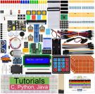 Ultimate Starter Kit for Raspberry Pi 4 B 3 B+, 434 Pages Detailed Instructions, Python C Java, 223 Elements, 57 Projects, Learn Electronics and Programming, Solderless Breast Board