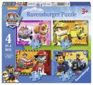 Ravensburger 7033 Paw Patrol 4 in a Box Jigsaw Puzzles (12, 16, 20, 24 Pieces)